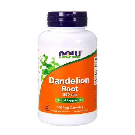 Dandelion Root 500 mg 100 Kapsułek Now