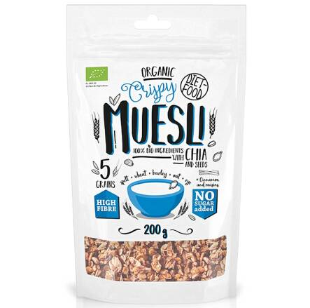 Bio Muesli z Chia 200 g - Diet Food