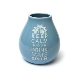 Matero Ceramico Luka Blue 350 ml z Logo Mate Green
