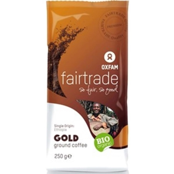 Kawa Mielona Gold Arabica Etiopia Fair Trade Bio 250 g Oxfam Fair Trade