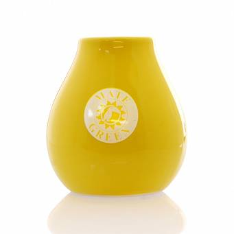 Matero Ceramico Luka Yellow 350 ml z Logo Mate Green