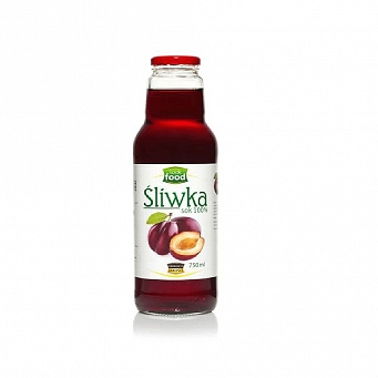 Sok 100% Śliwka 750 ml Look Food