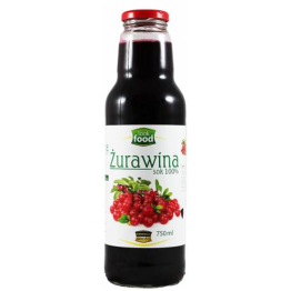 Sok 100 % Żurawina 750 ml Look Food