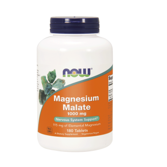 Magnesium Malate 1000 mg 180 Tabletek Suplement Diety Now