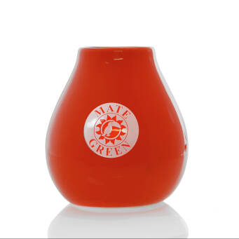 Matero Ceramico Luka Orange 350 ml z Logo Mate Green