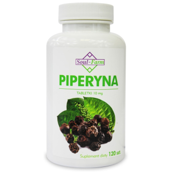 Piperyna 10 mg 120 Tabletek Soul Farm