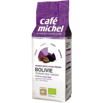 Kawa Fair Trade Mielona Boliwia Bio 250G-Cafe Michel