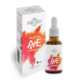 Witamina A+E w Kroplach (700 Mcg+12 Mg) 30 ml - Soul Farm