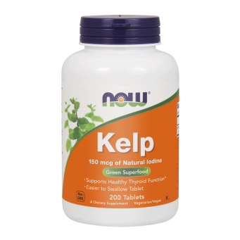 Kelp 150 mcg Jod 200 Tabletek Now